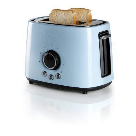 Toaster grille-pain acier bleu - 2 fentes - 1000W - DOMO DO953T