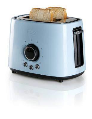 Grille-pain 2 fentes bleu - DOMO DO953T