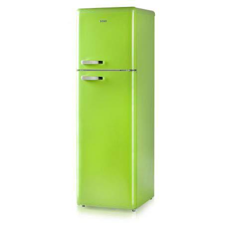 Réfrigérateur congélateur rétro vert  DOMO DO919RKG