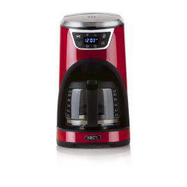 Cafetière programmable 12 tasses rouge - Boretti B411