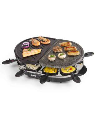 Raclette pierre à cuire gril 8 personnes - DOMO DO9059G