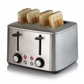 Grille-pain rétro inox 4 fentes - DOMO DO969T