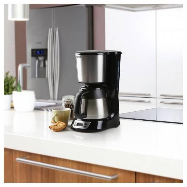 Programmable Domo Do709kFestihome Tasses Inox 8 Cafetière Noire 7ygYb6fv