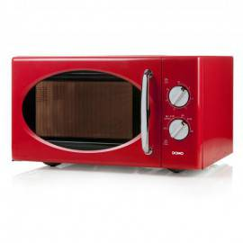 Micro-ondes rouge rétro  25 L 900 W - DOMO DO2925