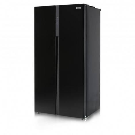 Réfrigérateur américain noir 510L DOMO DO934SBS