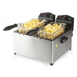 Friteuse à double cuve émaillée 2 x 3 L / 3500 W – DOMO DO560FR