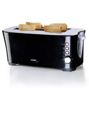 Grille-pain 2 fentes XL 1350 W noir - DOMO DO961T