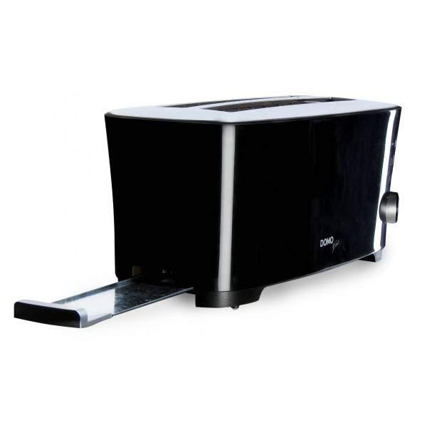 Grille pain 2 fentes XL 1350 W noir B Smart DOMO DO961T