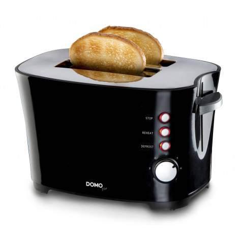 Grille pain noir -  2 fentes - 850W - DOMO DO941T