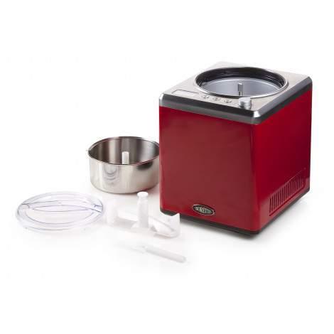 Sorbetière rouge - 2L -  Boretti Gelatiera B101