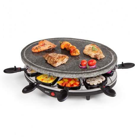 Pierre à cuire / raclette ovale - 8 personnes - 1200W - DOMO DO9058G