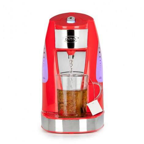 Théière bouilloire électrique rouge - 1,5L - DOMO DO483WK
