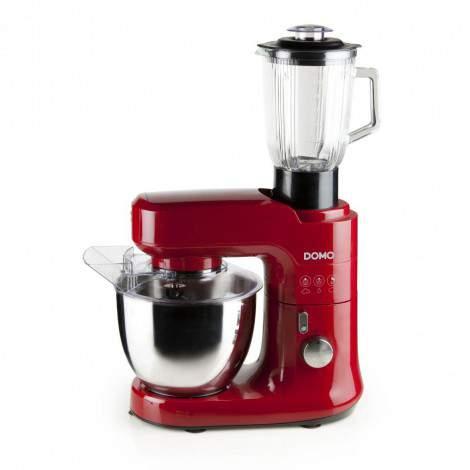 Robot de cuisine pâtissier- 4,5L - 700W + blender + coupe légumes - DOMO DO9145KR