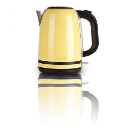 Bouilloire acier inox jaune - capacité 1,7L - 2200W - DOMO DO490WK