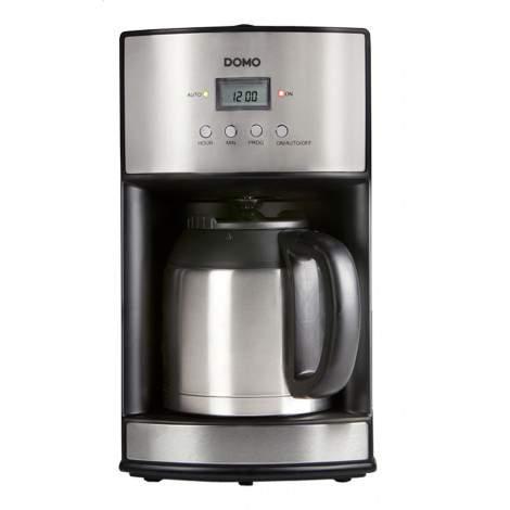 Cafetière programmable - 10 tasses - 1,2L - inox brossé - DOMO DO474K