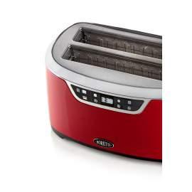 Grille-pain 2 fentes XL 1600 W rouge - Boretti Tostapane B301