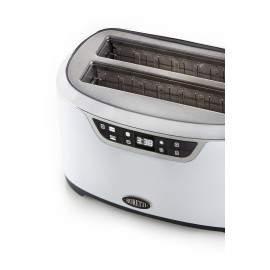 Grille-pain 2 fentes XL blanc - Boretti Tostapane B302