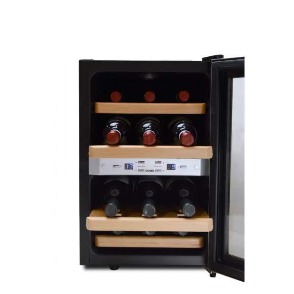 cave vin 2 zones 12 bouteilles domo do909wk festihome. Black Bedroom Furniture Sets. Home Design Ideas
