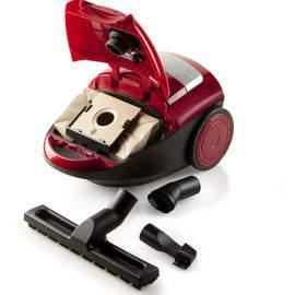 Aspirateur avec sac 2.5 L 700 W A rouge - DOMO DO7283S