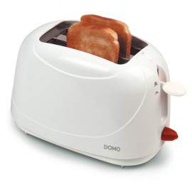 Grille-pain blanc 2 fentes 800 W - DOMO DO940T