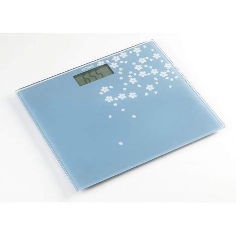 Pèse personne ultra slim bleu