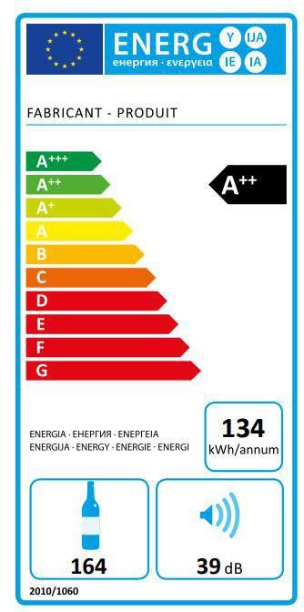 Etiquette énergétique cave à vin