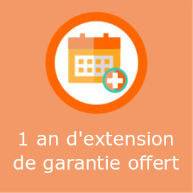 1 an d'extention de garantie offert
