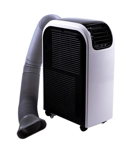 Climatiseur monobloc mobile blanc et noir à simple tuyau