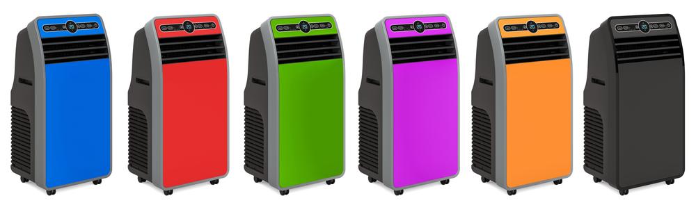 Climatiseurs mobiles de couleurs variées