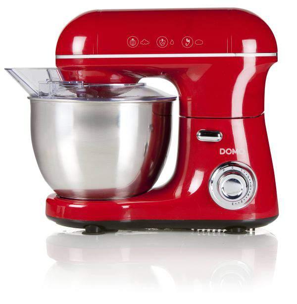 Comment choisir un robot pâtissier - Robot pâtissier rouge Domo DO9116KR