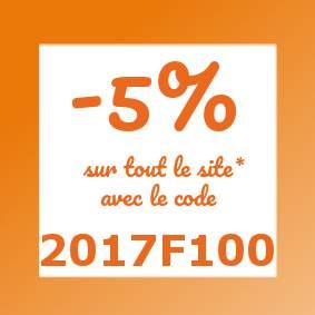 Remise de 5% avec code