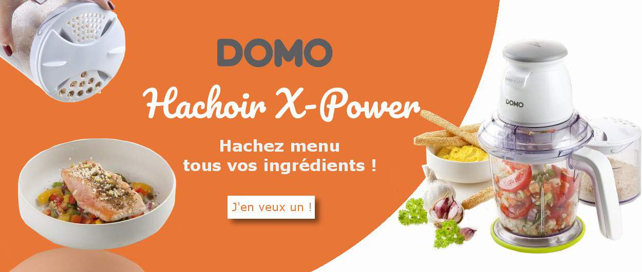 Ensemble Hachoir XPower DOMO DO9191MC