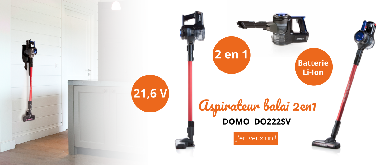 Aspirateur 2-en-1 DO222SV DOMO